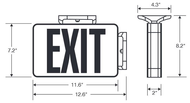 Slim LED Exit Signs